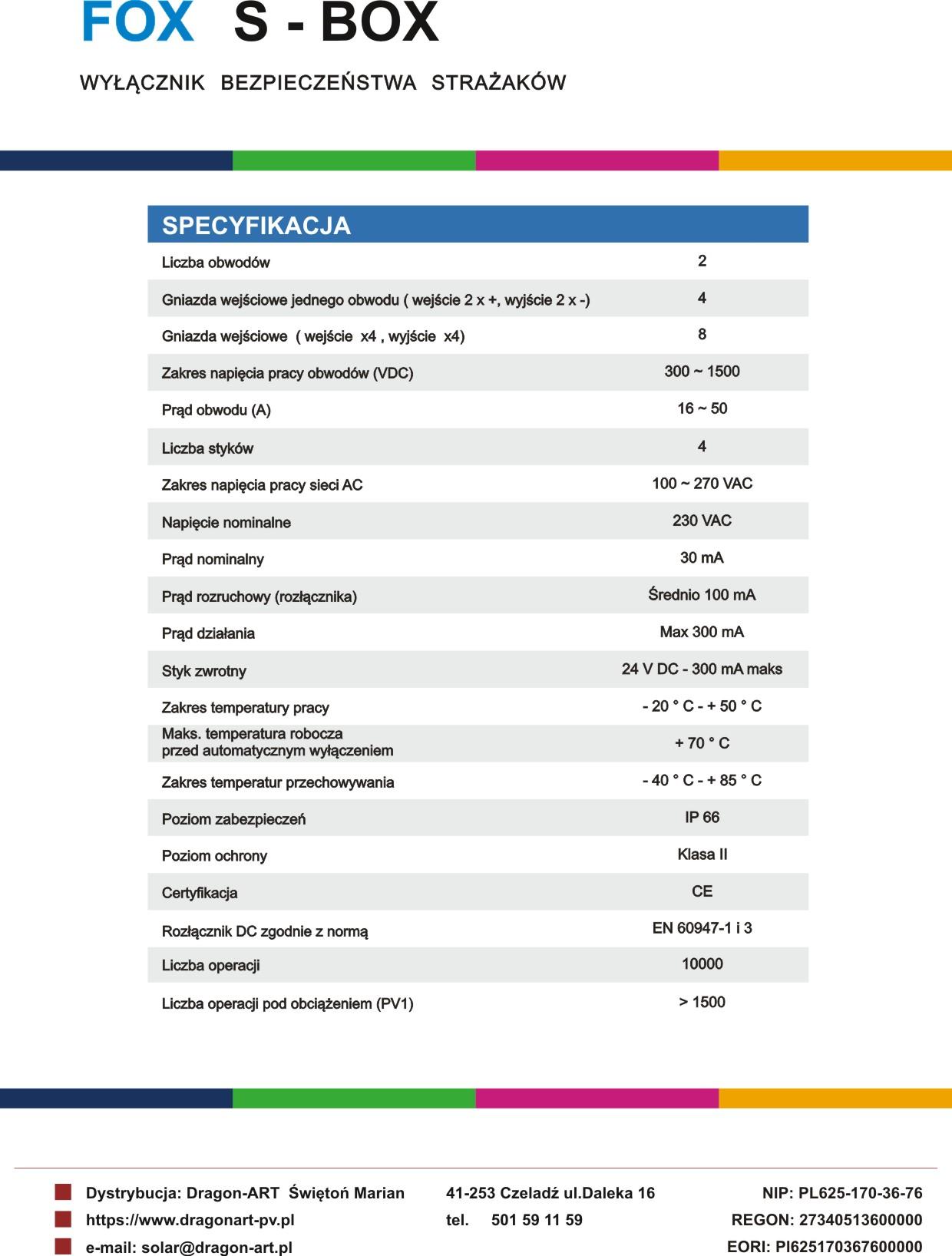 Karta Katalogowa s-2 S-BOX pl